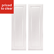 IT Kitchens Chilton Gloss White Style Wall corner Cabinet door (W)250mm, Set of 2