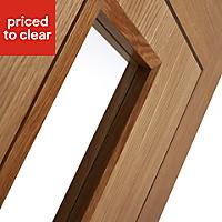 Flush 1 panel Oak veneer Internal Door, (H)1981mm (W)686mm