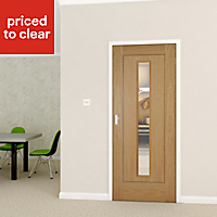 Flush 1 panel Oak veneer Internal Door, (H)1981mm (W)838mm