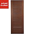 Flush 5 panel Walnut veneer Internal Fire Door, (H)1981mm (W)838mm