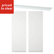 IT Kitchens Marletti Gloss White Standard Cabinet door (W)250mm, Pack of 2