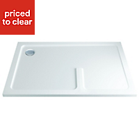 Cooke & Lewis Luxuriant Rectangular Shower enclosure, tray & waste pack with Walk-in entry (W)1400mm (D)880mm