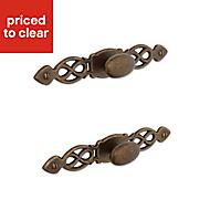 B&Q Brass effect Oval Furniture knob (L)152mm, Pack of 1