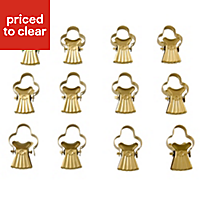 05094530 CS-CRTN PINCER CLIPS BURNISHED BRASS EFF