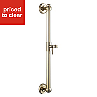 Cooke & Lewis Gold effect Shower riser rail