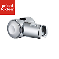 B&Q Silver Chrome effect Shower head holder with riser rail attachment