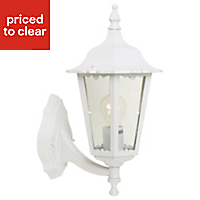 Waterville White Mains-powered Outdoor Wall lantern