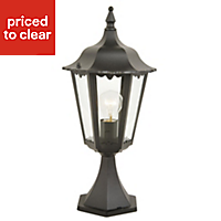 Waterville Black Mains-powered Outdoor Post topper light