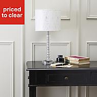 Aix Chrome effect Halogen Table lamp