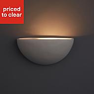 Aura Cream Paint effect Wall uplighter