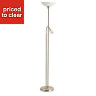 Carpio Chrome effect Incandescent Floor lamp