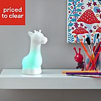 White Nickel effect Giraffe LED Night light