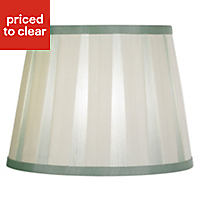 Colours Margaret Cream & duck egg Striped Light shade (D)102mm