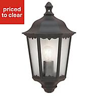 Ryedale Matt Black Mains-powered Outdoor Wall light