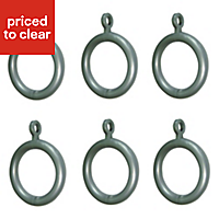 Colours Plastic Curtain ring (Dia)13mm, Pack of 6