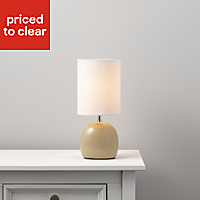 Alana Matt Cream Table lamp