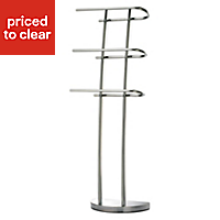 Cooke & Lewis Junon Chrome effect Towel stand