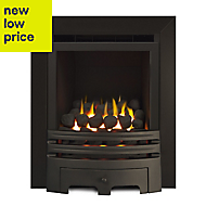Ignite Westerly Glass Fronted Black Gas Fire