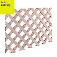 Timber Lattice Trellis panel (H)0.6m(W)2.44 m