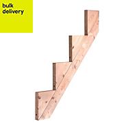 Softwood 4 step riser (L)1090mm