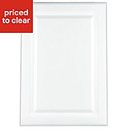 IT Kitchens Chilton Gloss White Style Standard Cabinet door (W)500mm