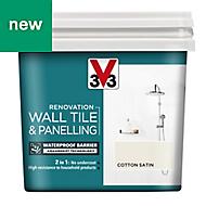 V33 Renovation Cotton Satin Wall tile & panelling paint, 0.75L