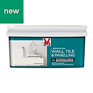 V33 Renovation Cotton Satin Wall tile & panelling paint, 2L