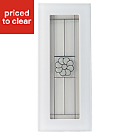 IT Kitchens Chilton White Country Style Glazed Cabinet door (W)300mm