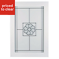 IT Kitchens Chilton White Country Style Glazed Cabinet door (W)500mm