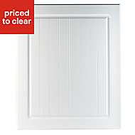 IT Kitchens Chilton White Country Style Integrated appliance Cabinet door (W)600mm