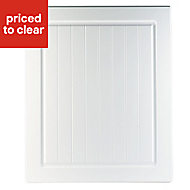 IT Kitchens Chilton White Country Style Standard Cabinet door (W)600mm