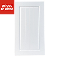 IT Kitchens Chilton White Country Style Standard Cabinet door (W)400mm
