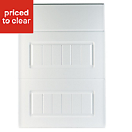 IT Kitchens Chilton White Country Style Drawer front (W)500mm, Pack of 3