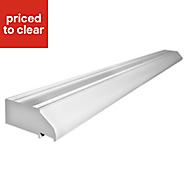 White PVCu Patio door vent (H)44mm (L)1490mm