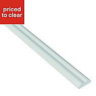 IT Kitchens Gloss White Wall corner post, (W)32mm (H)715mm
