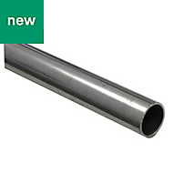 Dark grey Varnished Cold-pressed steel Round tube, (W)12mm (L)1m (D)12mm