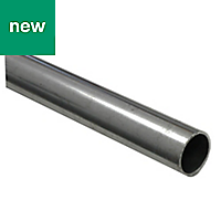 Dark grey Varnished Cold-pressed steel Round tube, (W)16mm (L)1m (D)16mm