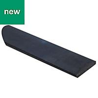 Varnished Black Hot-rolled steel Flat sheet (H)4mm (W)30mm (L)1m