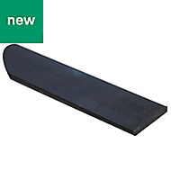 Varnished Black Hot-rolled steel Flat bar (H)6mm (W)35mm (L)1m
