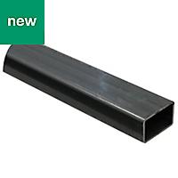 Varnished Cold-pressed steel Rectangular tube (H)27mm (W)27mm (L)1m