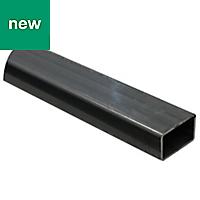 Varnished Cold-pressed steel Rectangular Tube, (L)1m (W)27mm (T)1.5mm