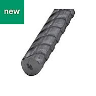 Varnished Hot-rolled steel Bar (H)8mm (L)1m