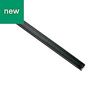 Varnished Hot-rolled steel Square bar (H)12mm (W)12mm (L)2m