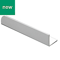 White PVC Equal angle (H)15mm (W)15mm (L)1m