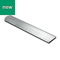 Raw Aluminium Flat sheet (H)2mm (W)15mm (L)2m
