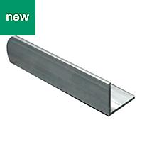 Aluminium Equal angle (H)10mm (W)10mm (L)2m