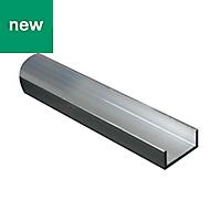 Aluminium U-shaped profile (H)10mm (W)10mm (L)2m