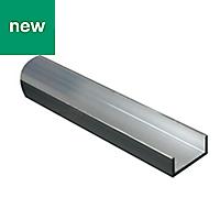 Aluminium Unequal channel (H)10mm (W)20mm (L)2m