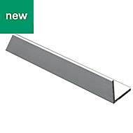 Anodised Aluminium Equal angle (H)25mm (W)25mm (L)2m