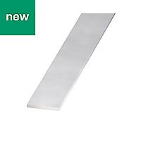 Anodised Aluminium Flat Bar, (L)1000mm (W)20mm (T)2mm